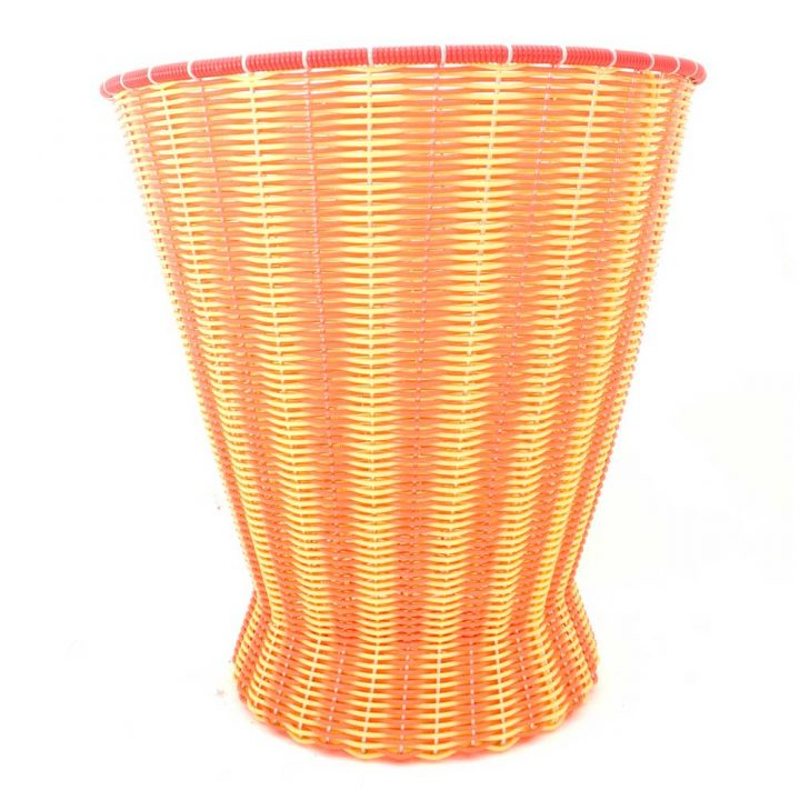 orange and yellow paper baskets
