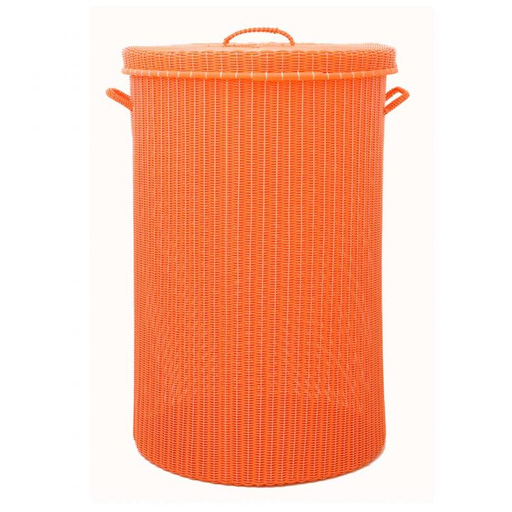 orange large laundry basket