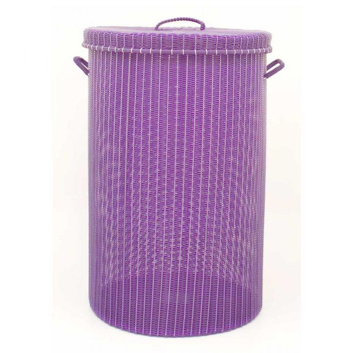 aubergine laundry basket