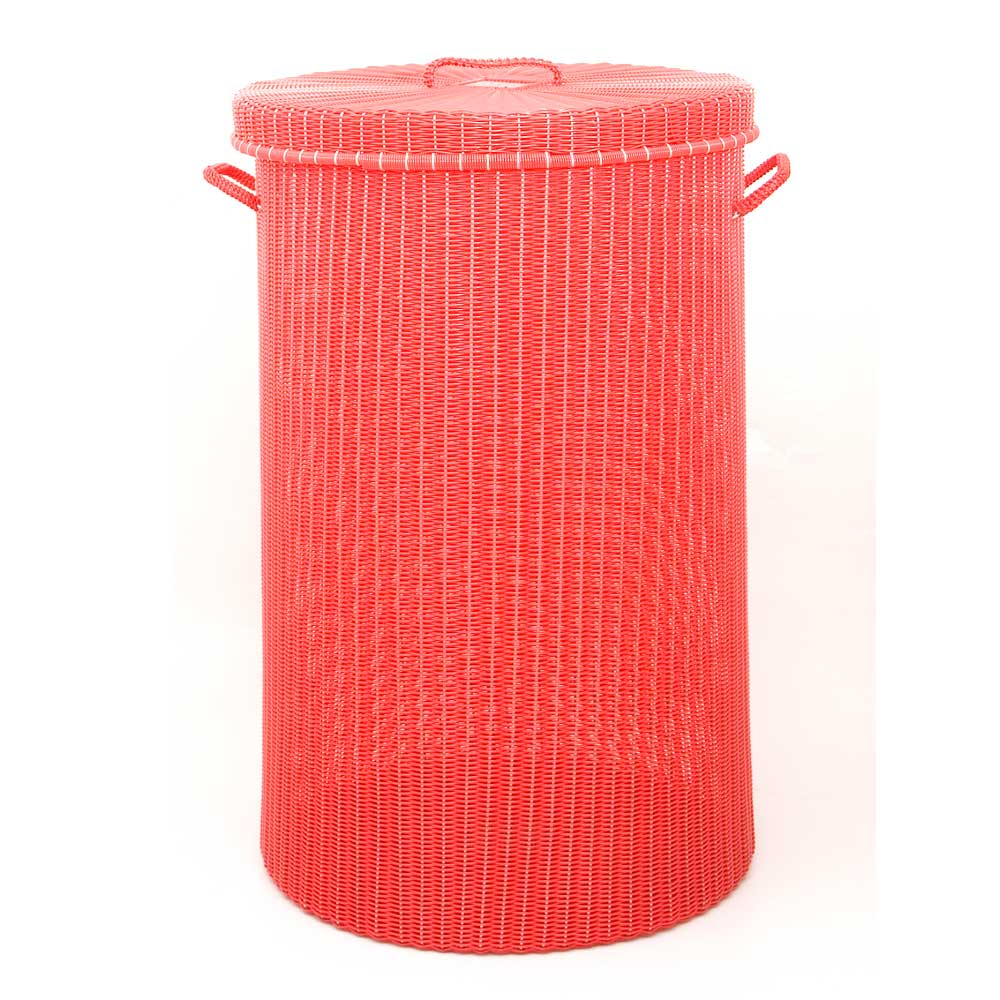 red laundry basket