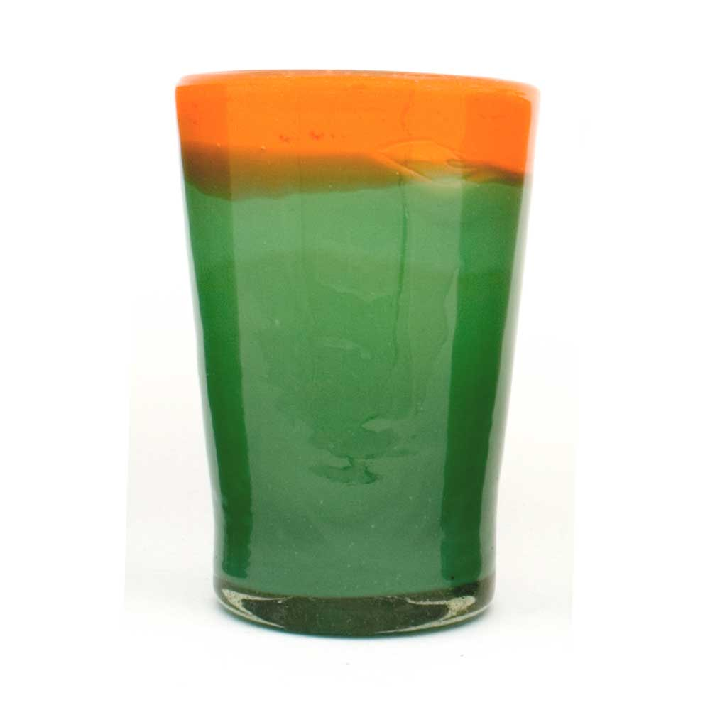 Orange and green rim flared