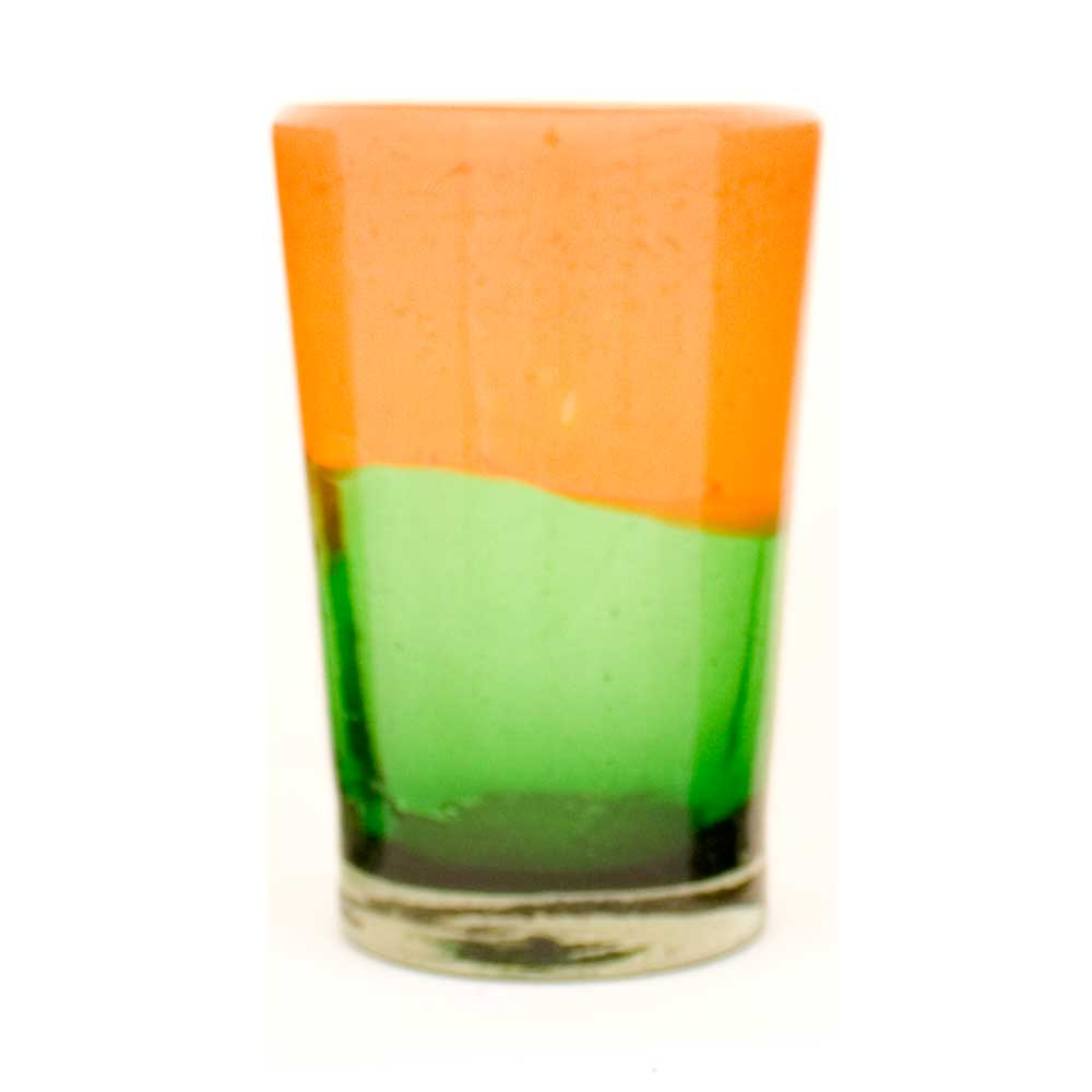Green and orange tumbler