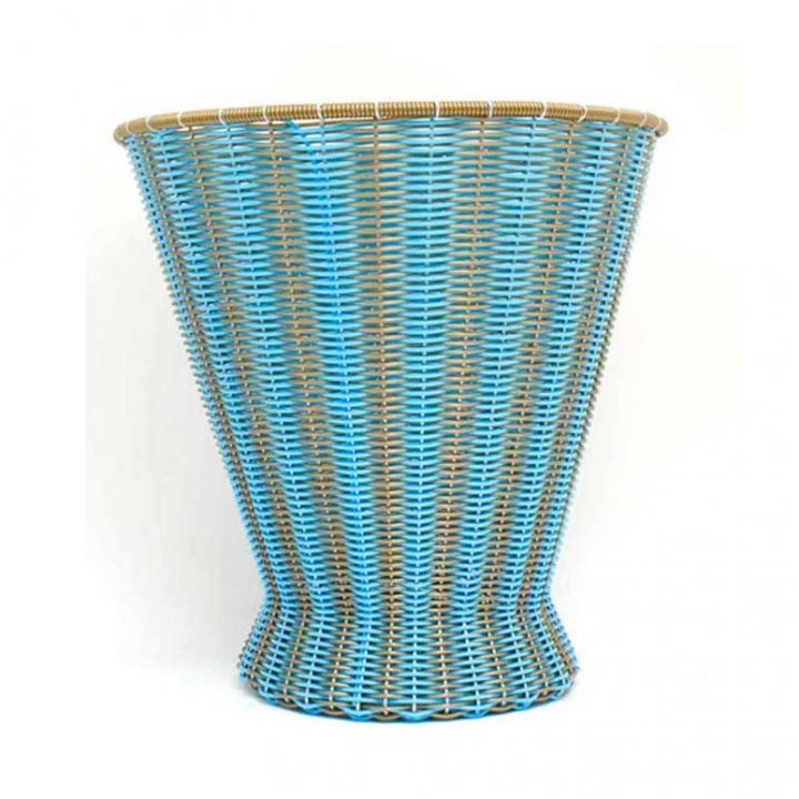 Blu sky and gold paper basket