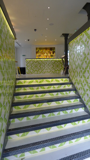 mexican Harlequin Lime tiles in Lupita