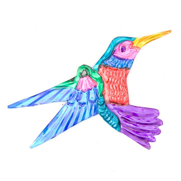 Hand made Mexican tin humming birds