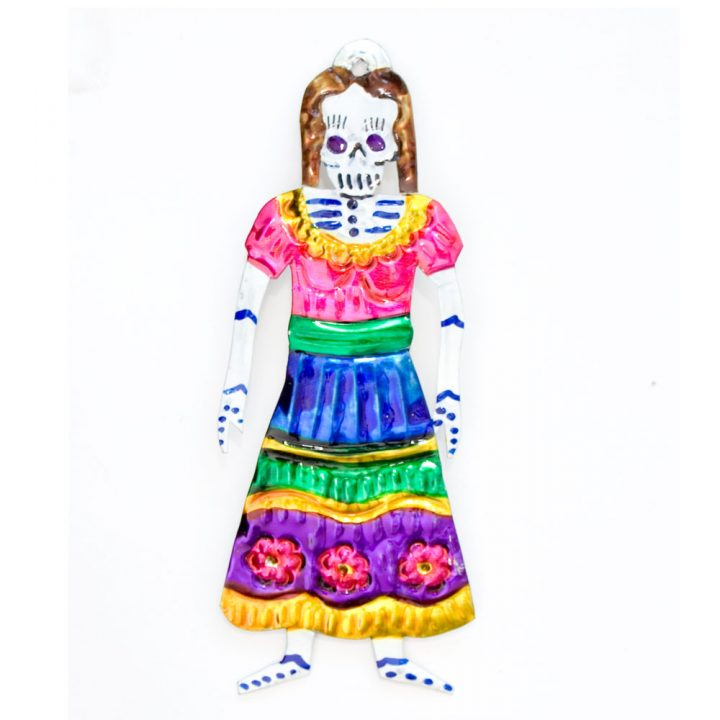 hand made mexican tin skeleton