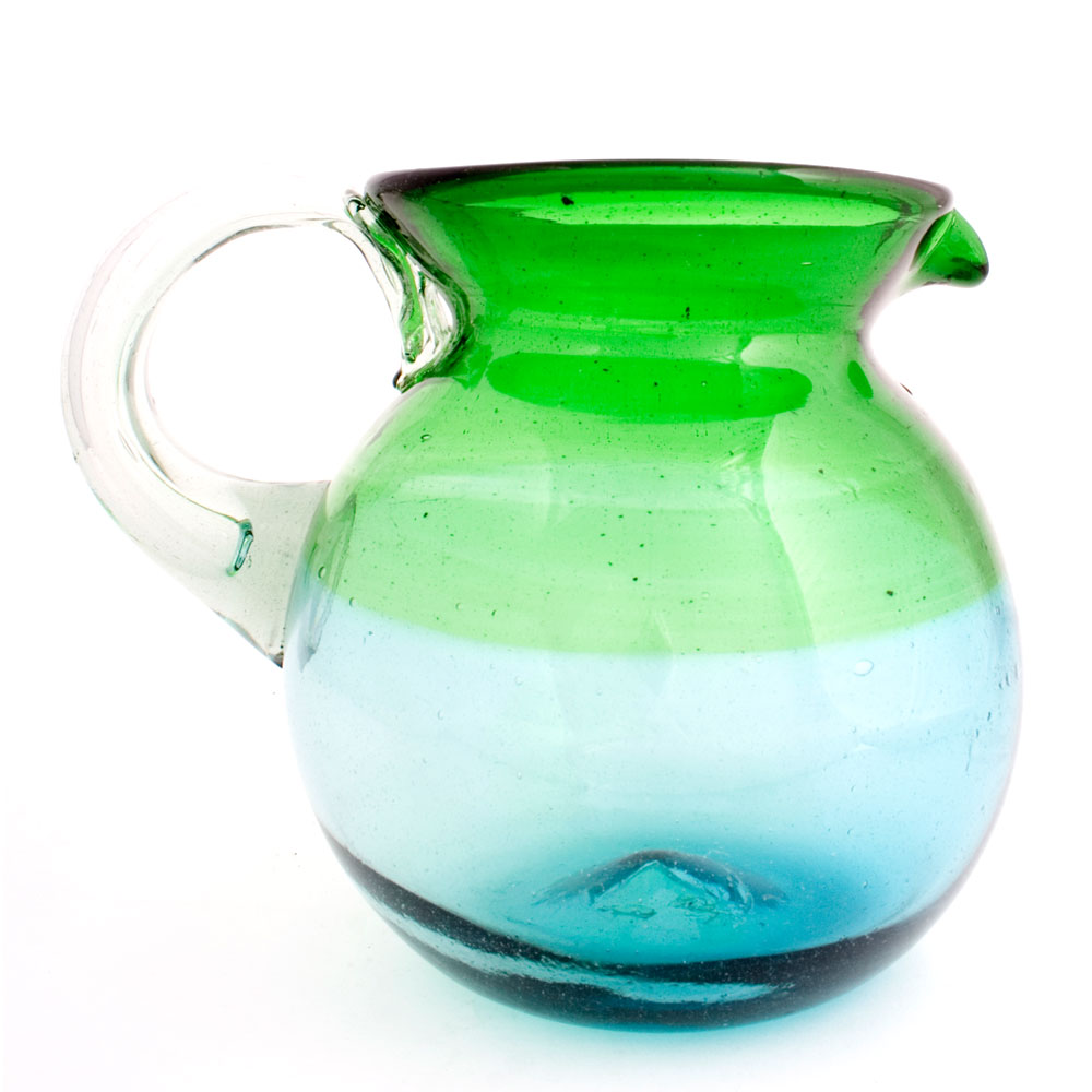 Green and turquoise round jug