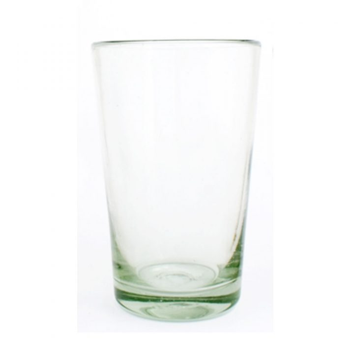 clear tumbler hand made in Mexico
