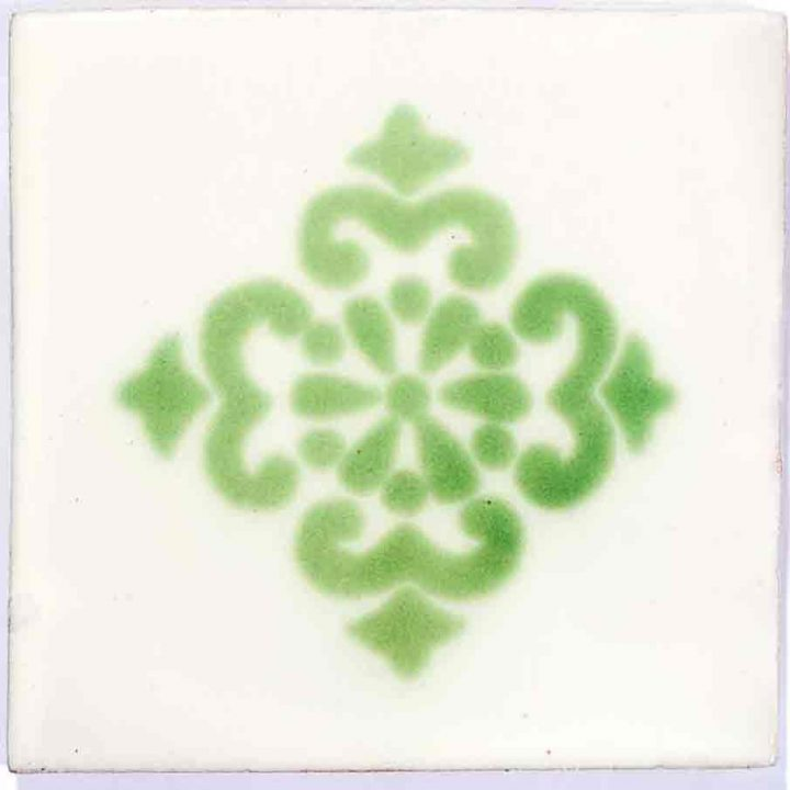 Anita green sin marco hand made wall tiles