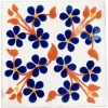 violets blue and red hand made tiles