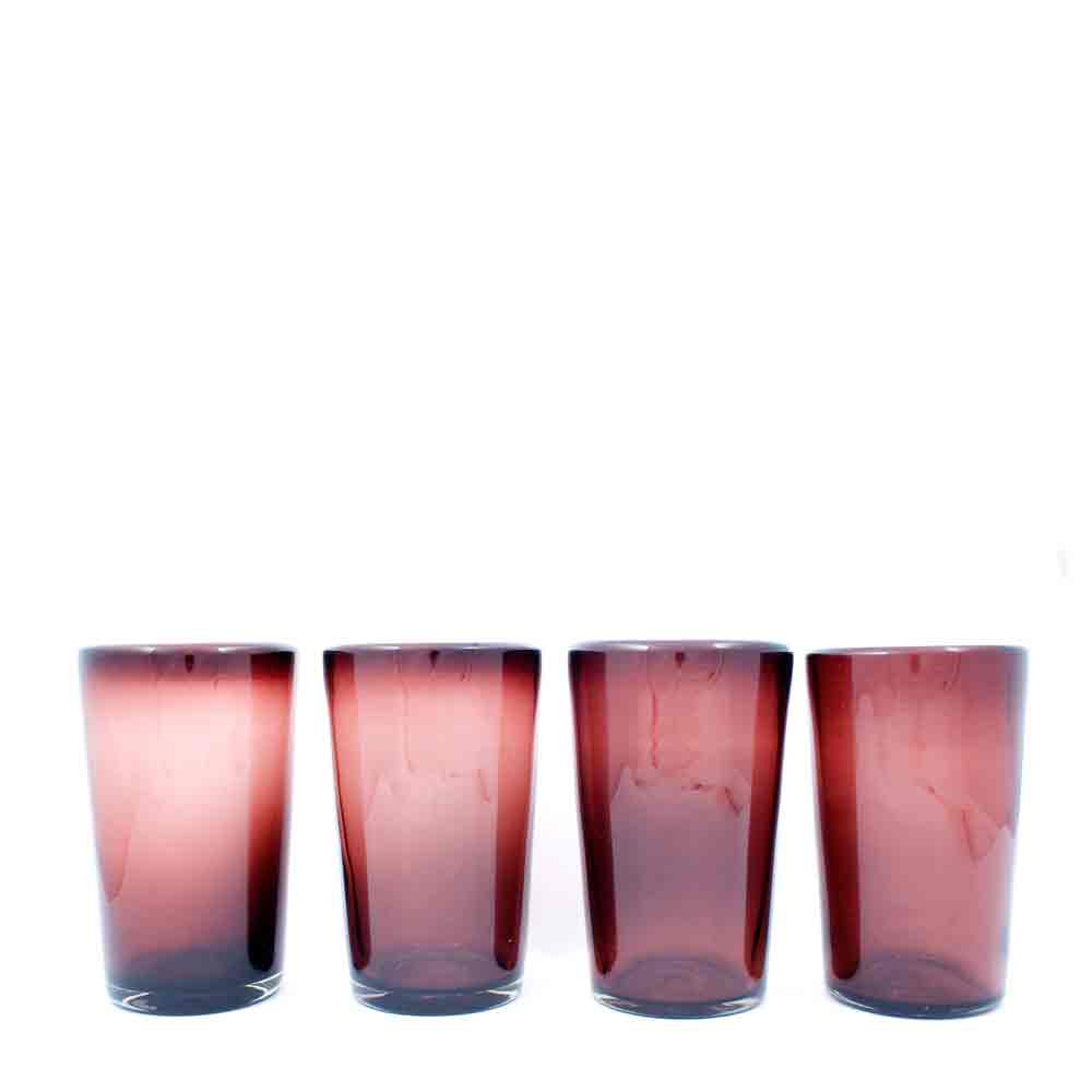 plum recycled tumblers.