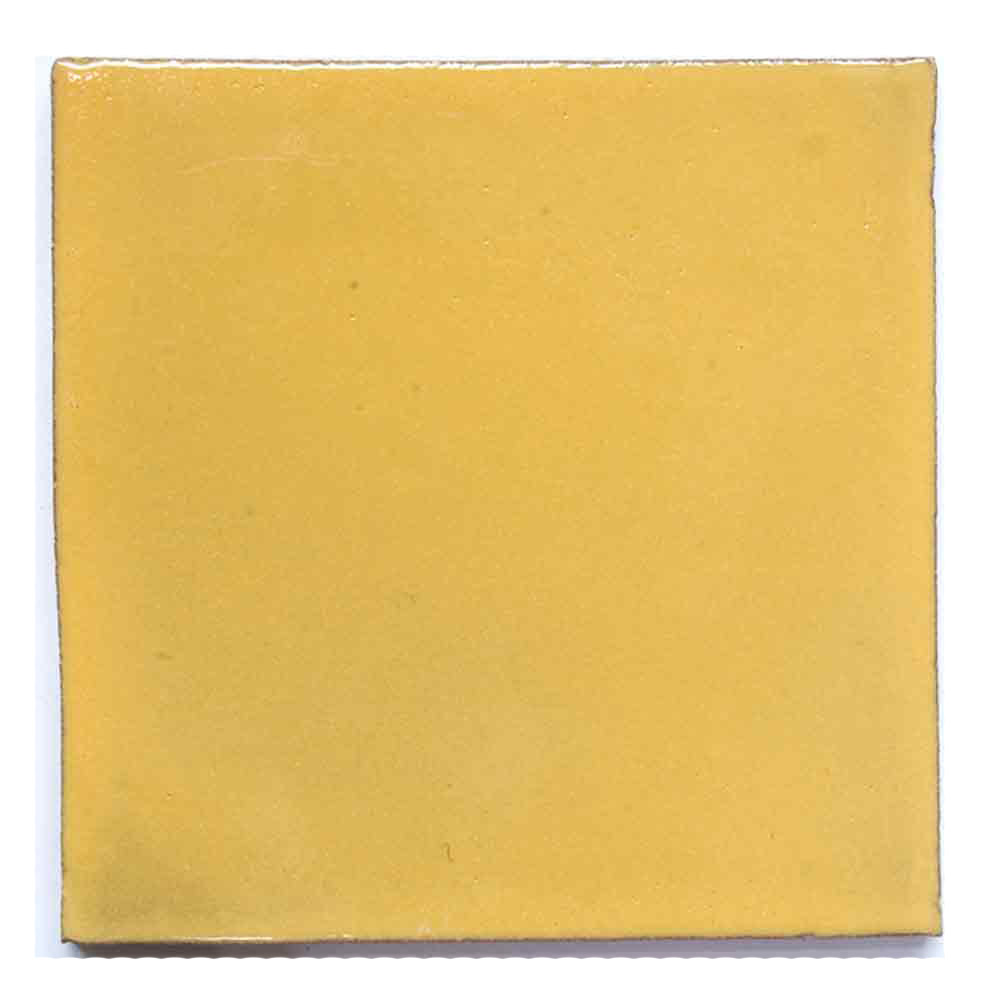 mustard yellow hand made tiles