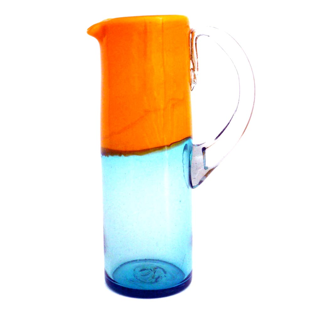 orange and turquoise straight jug