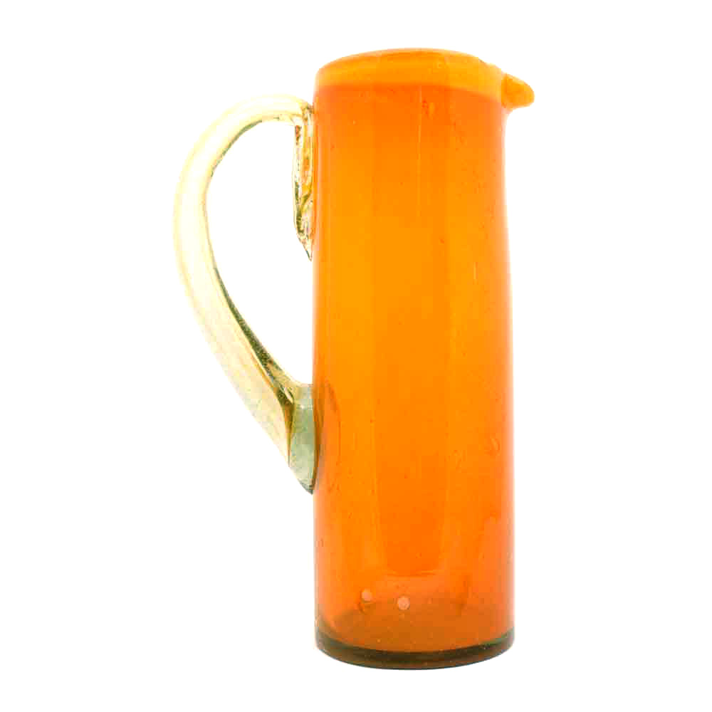 orange and yellow rim jug