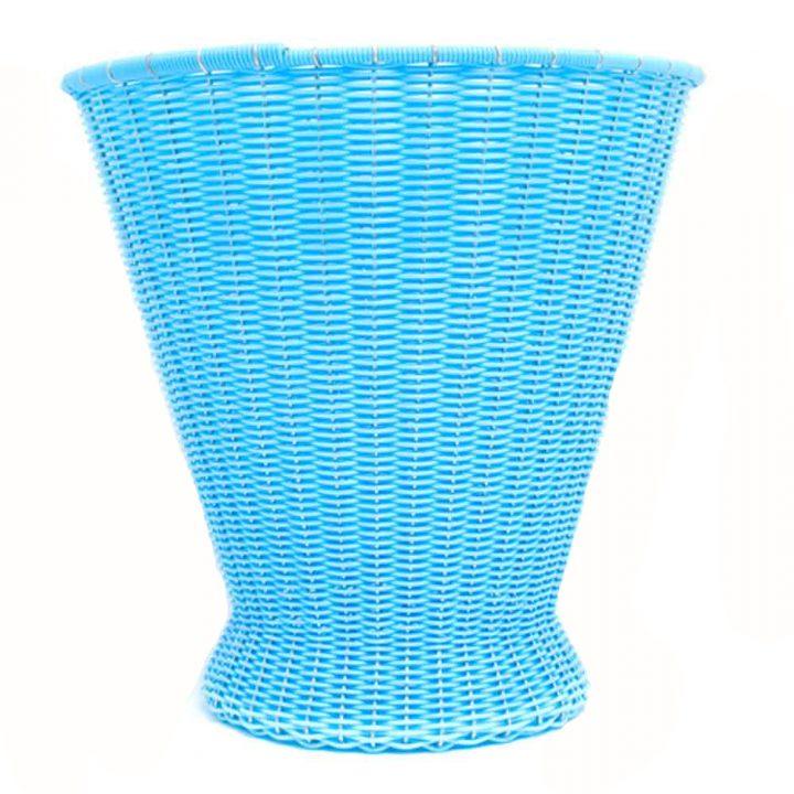 sky blue paper basket