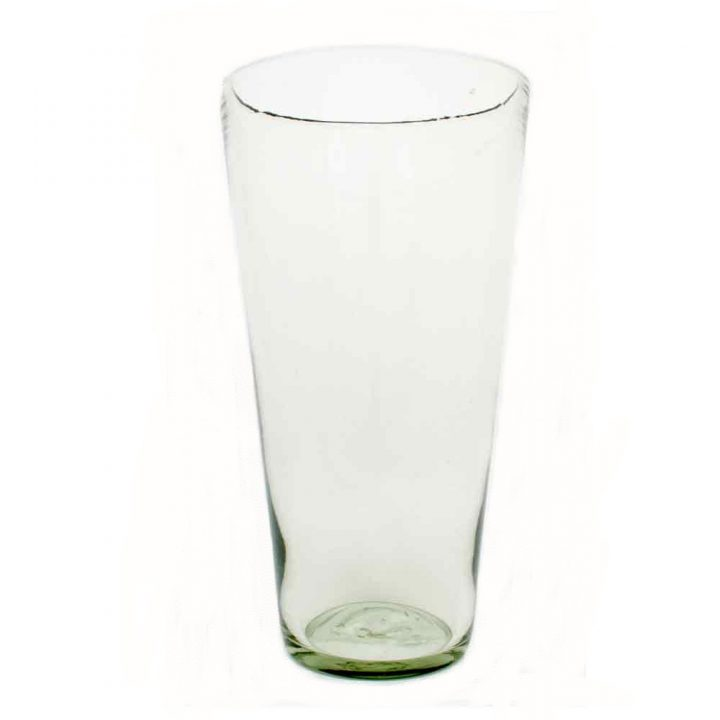 clear flared vase