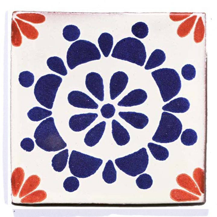 """Rocio blue and terracotta hand made wall tiles"