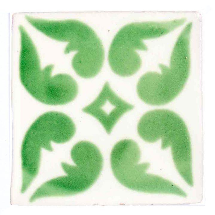 Lyon green hand made wall tiles