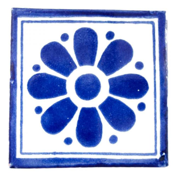 Daisy may blue hand made tiles