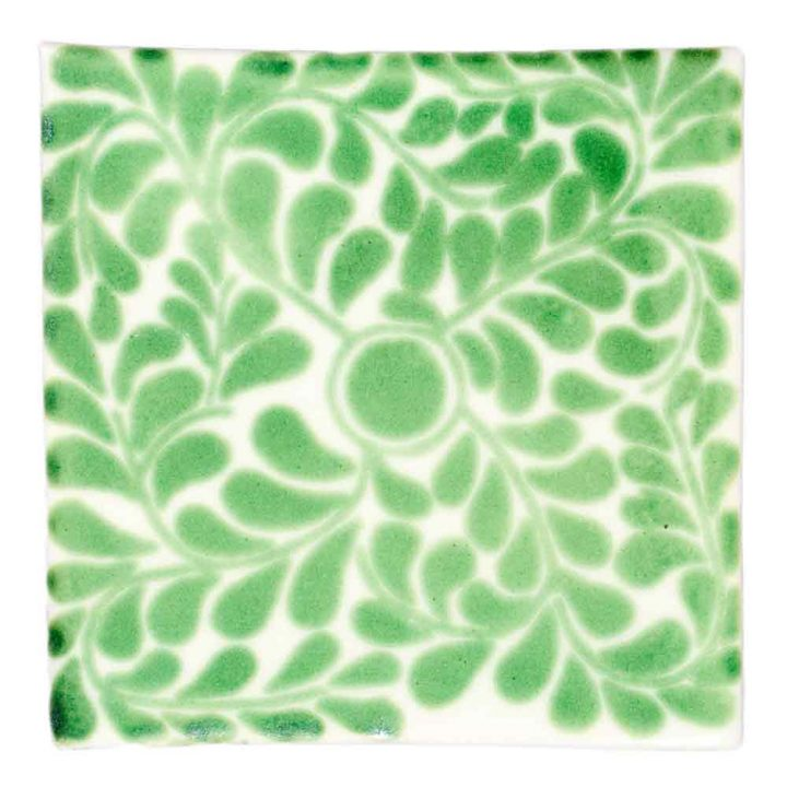 Capelo green hand made wall tiles
