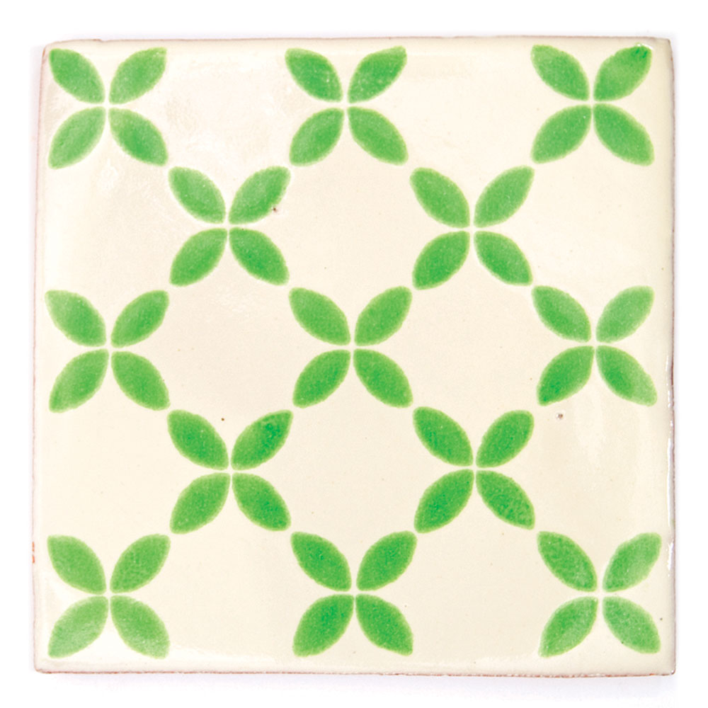Herendira green hand made mexican tiles