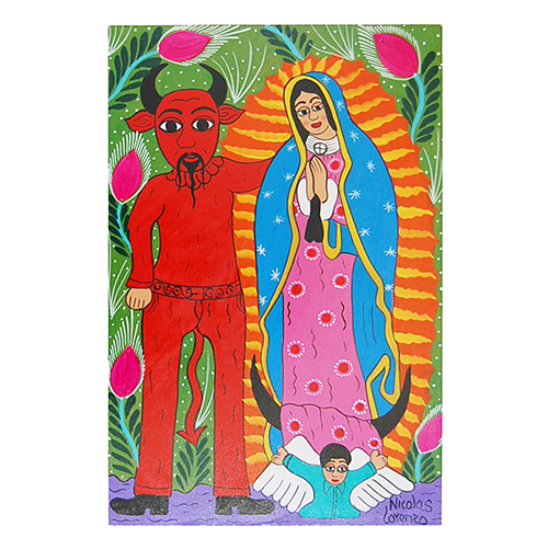 Virgin of Guadaloupe and devil