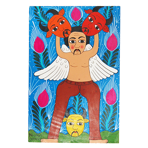 Devils and angels Mexican paintings