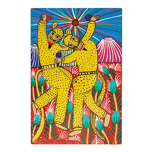leopards dancing in Mexican art