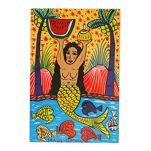 Mermaid with watermelon