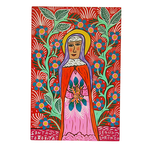 Virgin of Guadaloupe Mexican folk art by the Lorenzo family