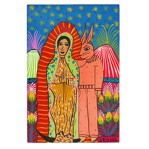 Virgin of Guadaloupe and pink rabbit