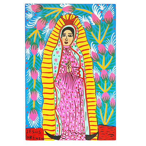 Virgin of Guadaloupe in Mexican folk art
