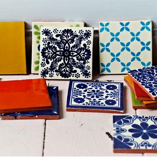 hand made decorative tiles from Mexico