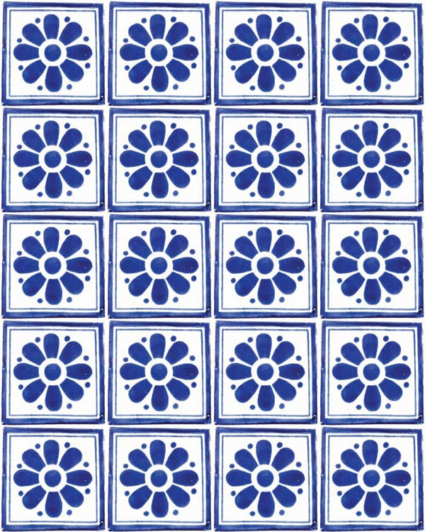 daisy may blue tiles