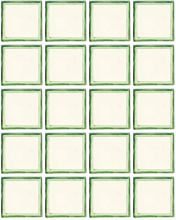 Daisy may green hand made tiles
