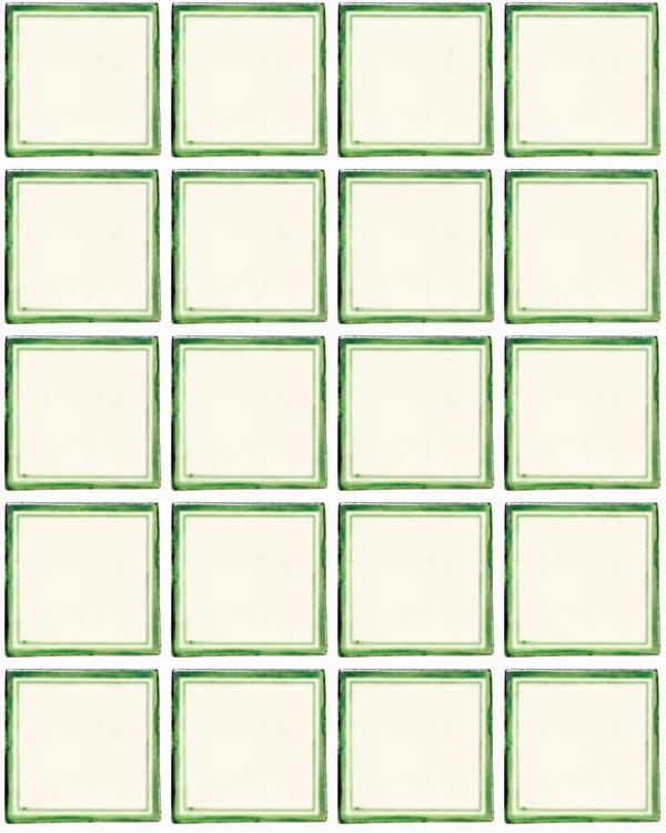 Daisy may green hand made tiles