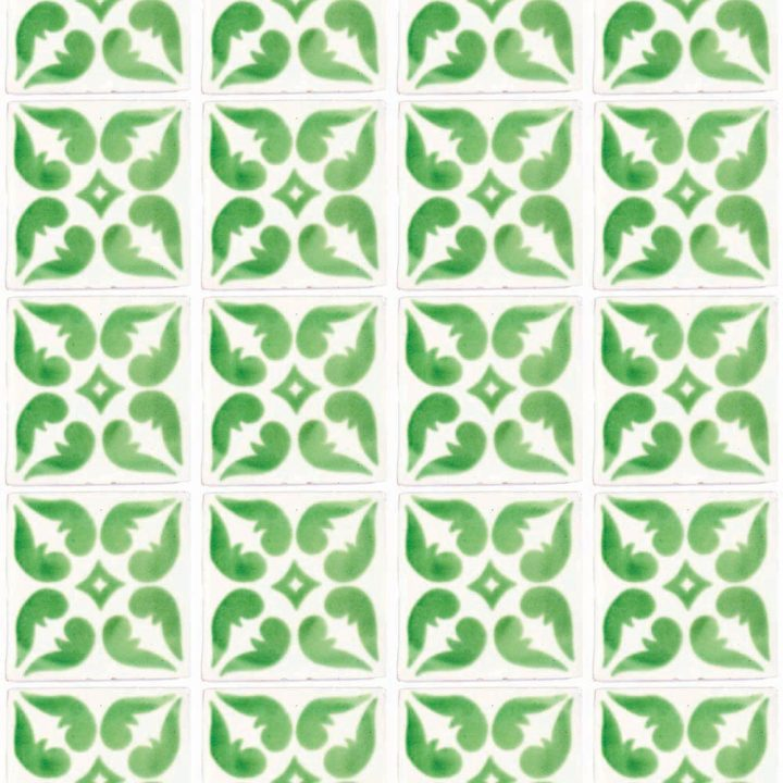 Lyon green hand made wall tiles.