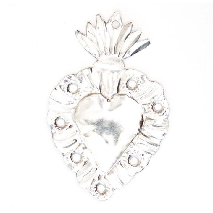 hand made mexican tin heart