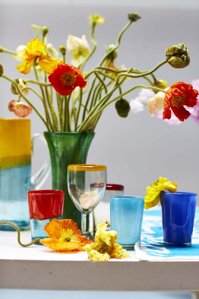 Milagros recycled Mexican glassware