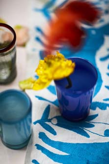Milagros Mexican coloured recycled glassware
