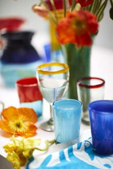 Milagros Mexican hand made recycled glassware