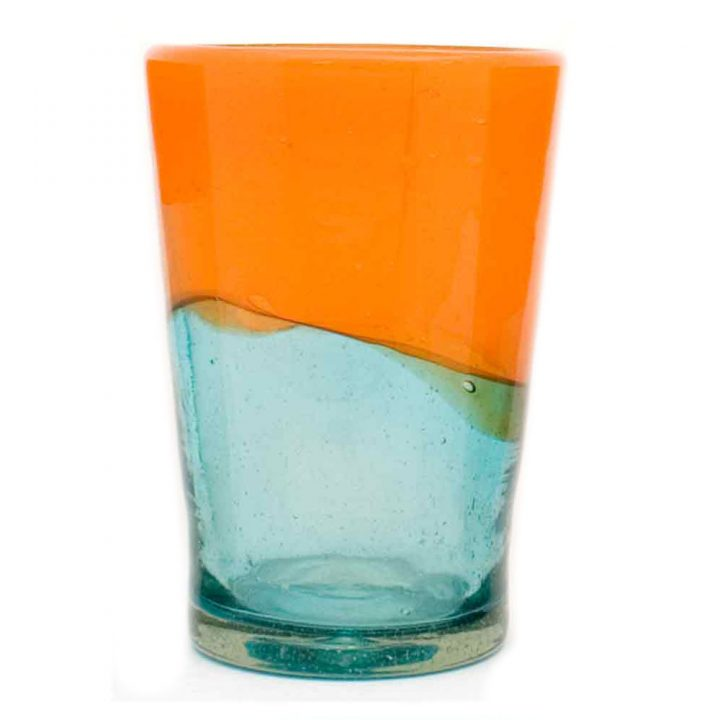 orange and turquoise tumbler