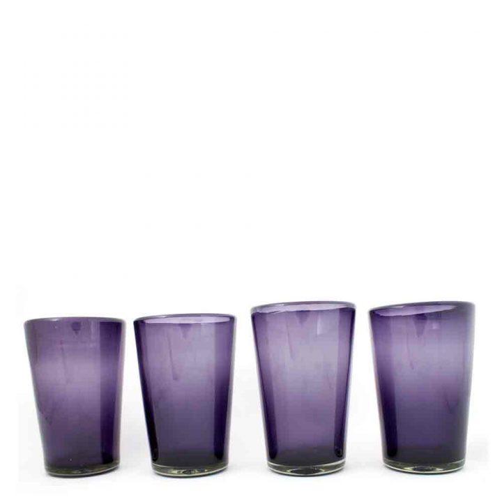 grape hand made glasses