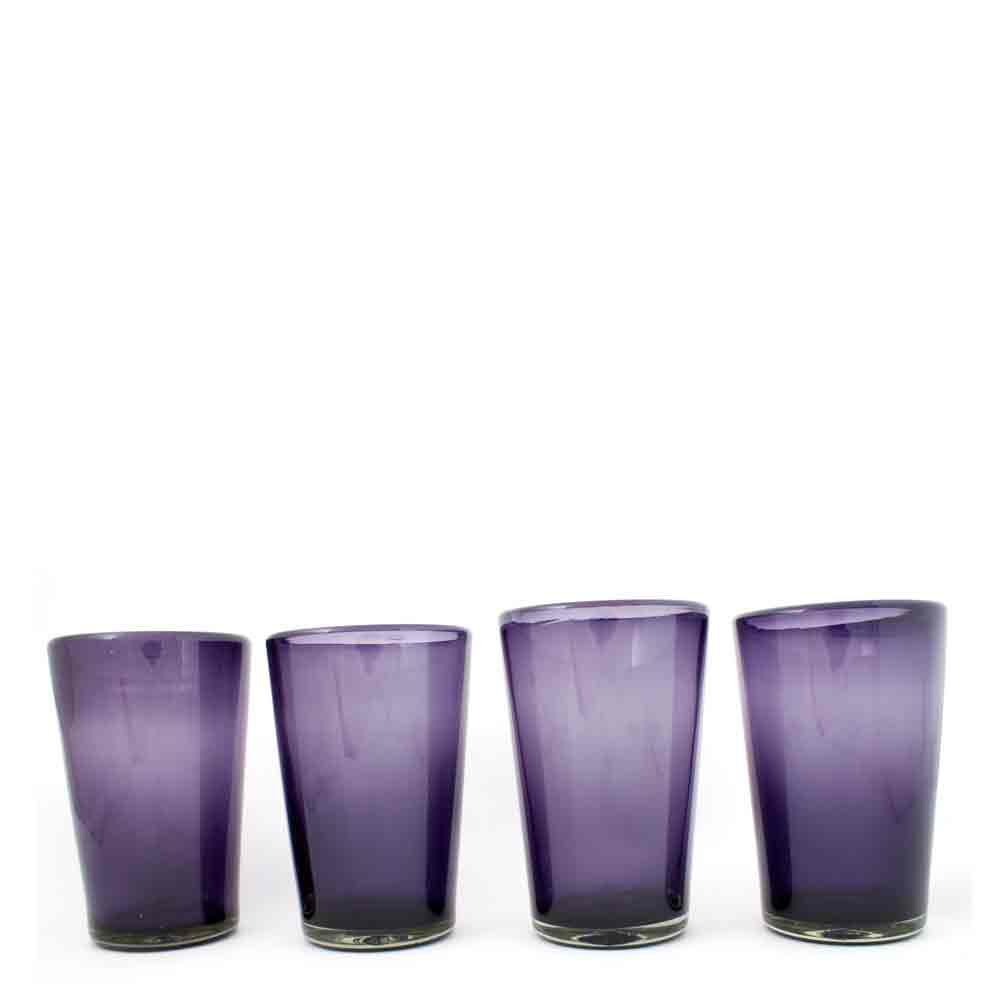 grape hand made glasses