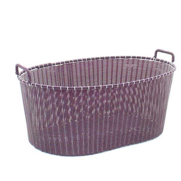 aubergine ironing basket