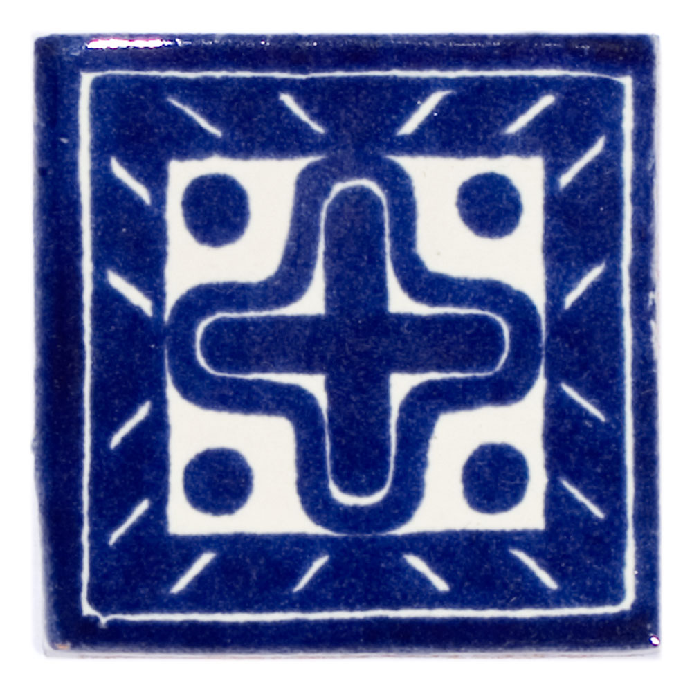 Cruz hand made Mexican tile