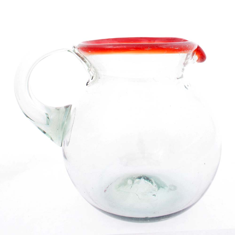 clear red rim jug