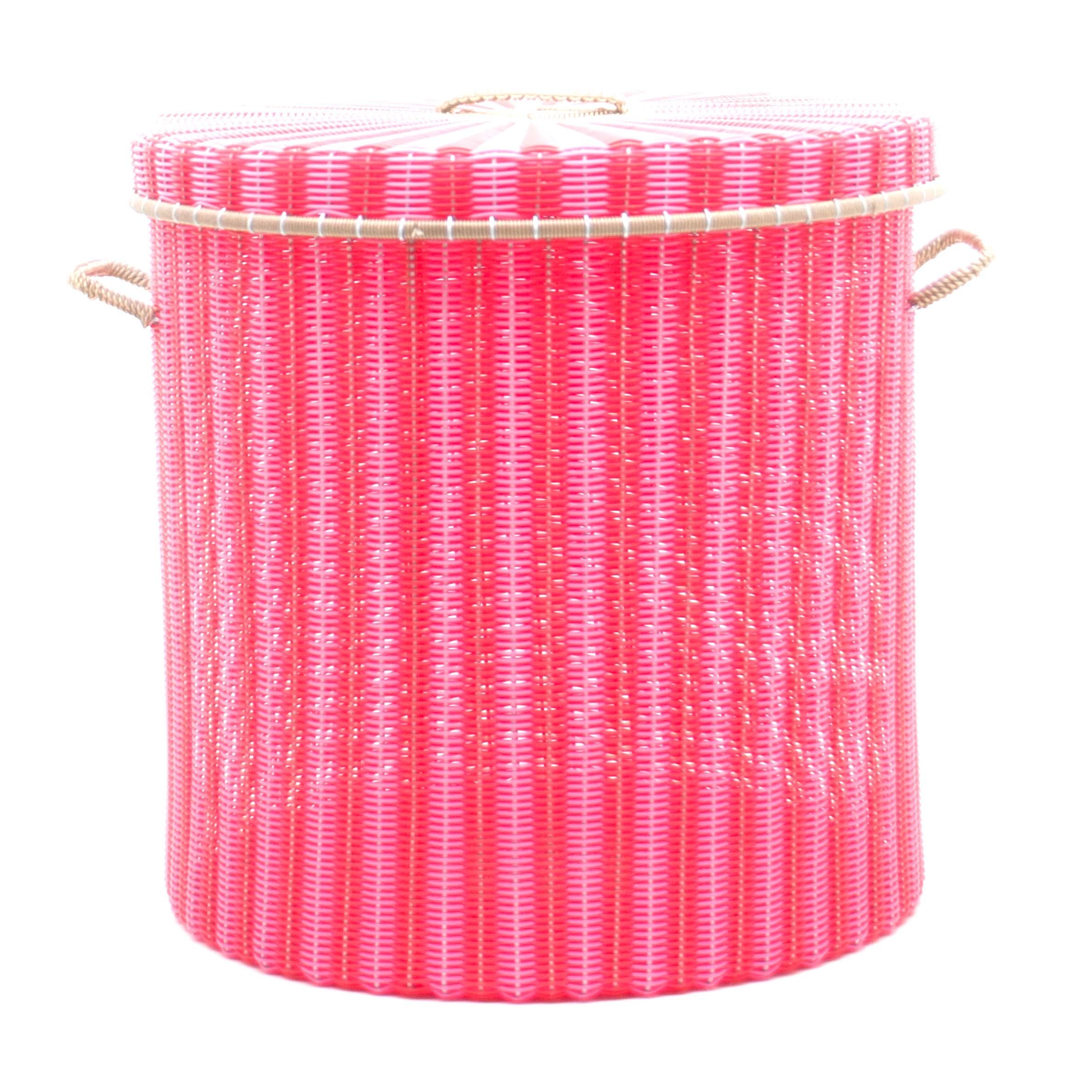 pink red storage basket