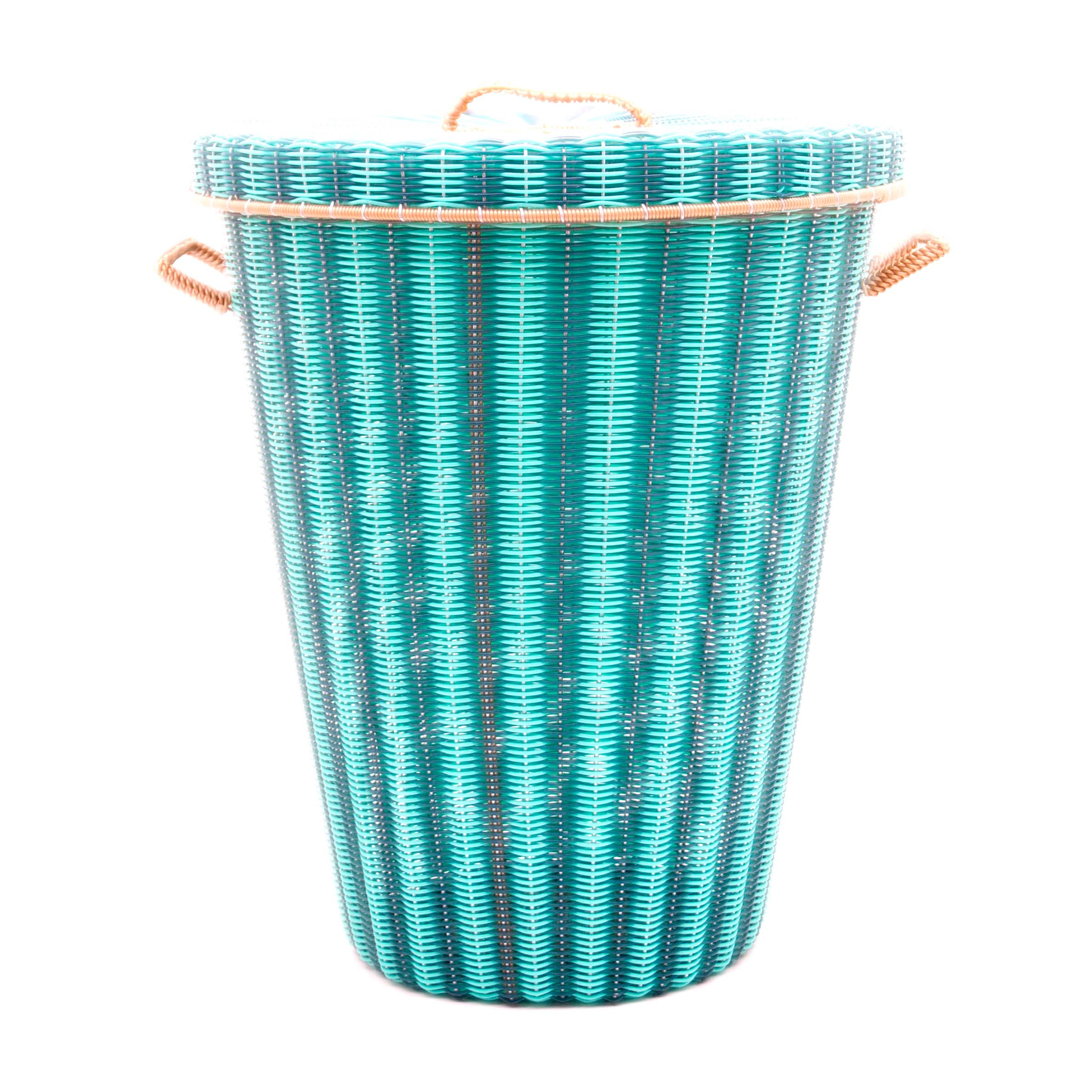 pistachio green laundry basket