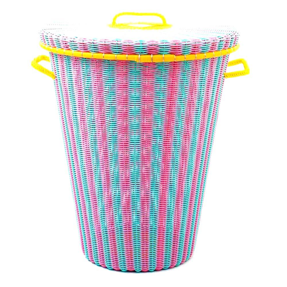 pistachio pink laundry basket